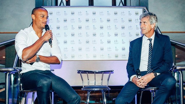 QUESTION TIME: Vinnie answers questions with former boss Pellegrini.