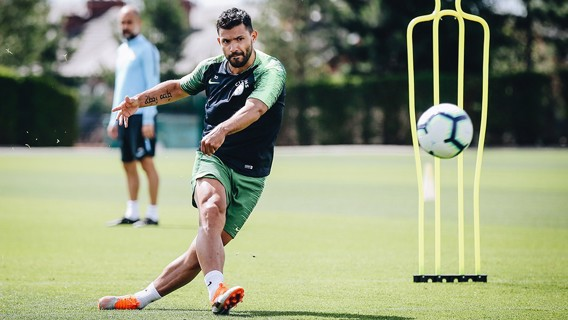 SHARP-SHOOTER: Sergio eyeing that elusive 200th City goal...