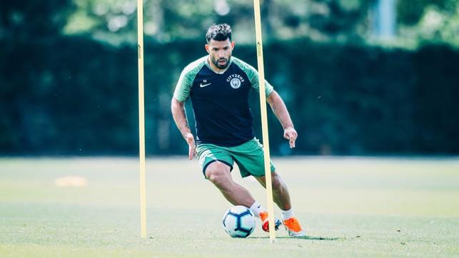 SERGIO SLALOM: Aguero ups the intensity