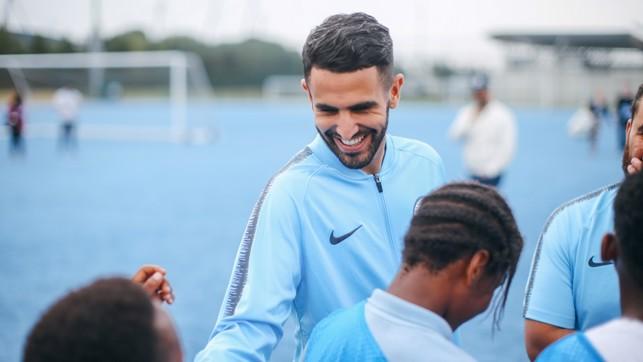 SMILES: Mahrez met with our City Kicks.