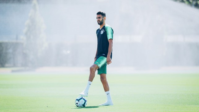 ON THE BALL: Riyad, ready to get underway