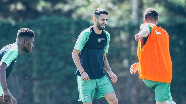 SMILES BETTER: Our Algerian play-maker enjoys the session