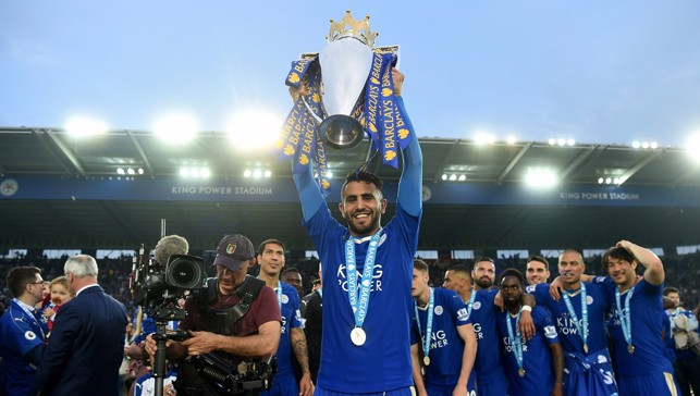 CHAMPIONS: The midfielder has experience of winning the Premier League title, having done so with Leicester in the 2015/16 campaign