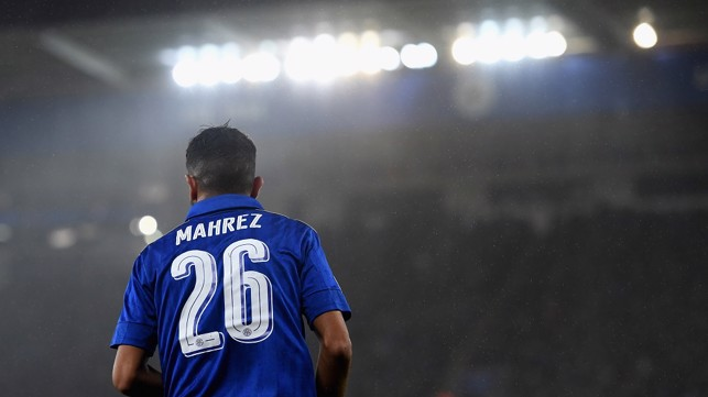 IN THE SPOTLIGHT: Mahrez will wear the number 26 shirt at City too