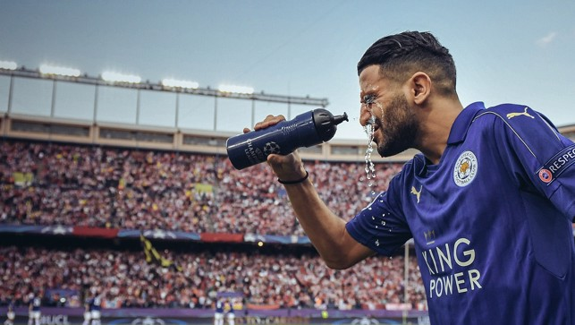 EUROPE: Cooling off in Madrid. Mahrez helped Leicester to reach the Champions League quarter-finals
