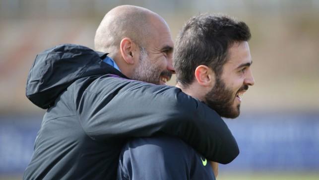 PEP TALK: The City boss has spoken glowingly of Bernardo's all-round contribution to the Club