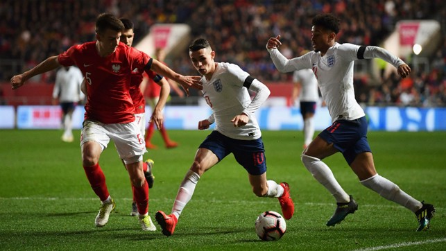 PHIL OF THE FUTURE: Phil Foden starred in England's clash with Poland at Ashton Gate
