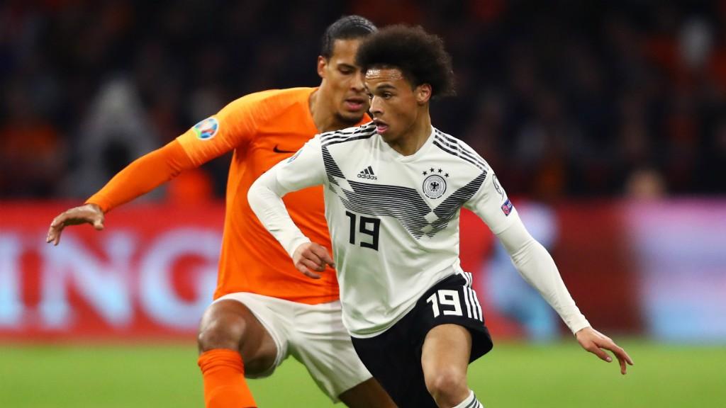 Leroy Sané abrió el marcador en un partido que Alemania ganó por 2-3 a los Países Bajos.