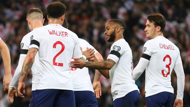 LION HEARTS: Walker and Sterling celebrate