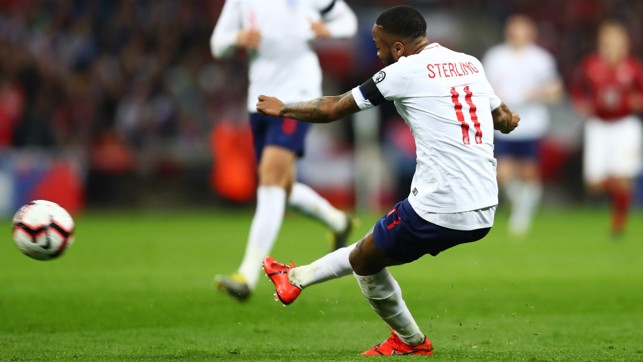 STERLING EFFORT: Raheem Sterling continues his excellent scoring form