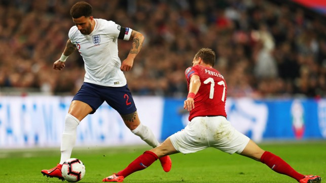 THESE BOOTS WERE MADE FOR WALKER: Kyle Walker, on the move