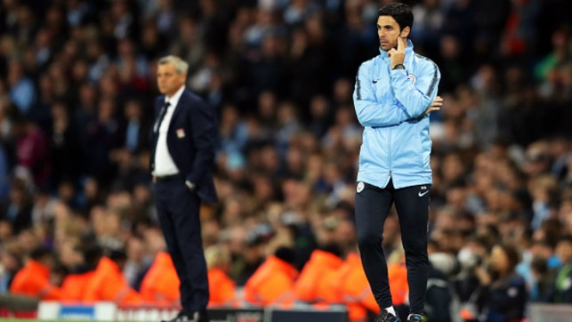 TEMPORARY CHARGE: Assistant coach Mikel Arteta takes charge against Lyon due to Pep's one-match Champions League touchline ban