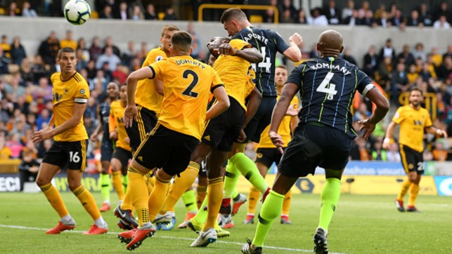 EQUALISER: Aymeric Laporte's first City goal earns a point away to Wolves