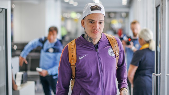 KEEPER: Ederson prepares to head to Germany.