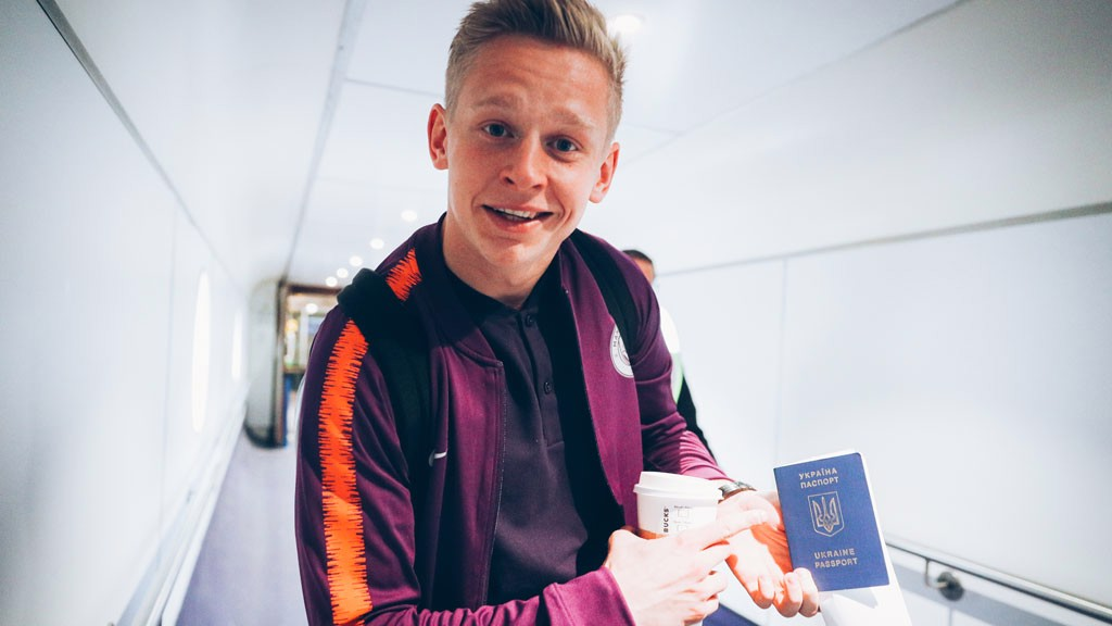"HOMEWARD BOUND: ""We're going to the best country!"" said Oleks Zinchenko"