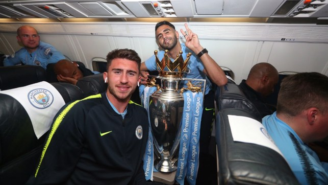 GOLD STANDARD: Aymeric Laporte and Riyad Mahrez both chipped in with vital goals to seal our title success at Brighton