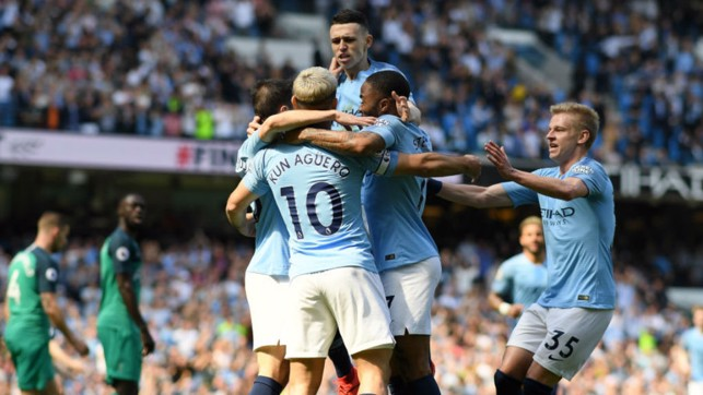 RISE AND SHINE: Phil Foden picked the perfect time to net his first Premier League goal - the winner against Spurs