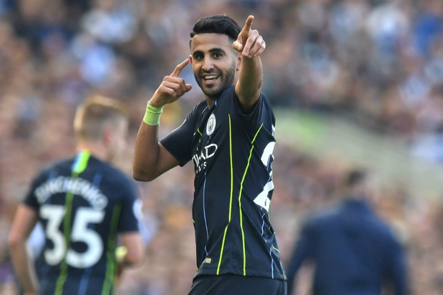 FORWARD THINKING: Riyad Mahrez bagged a beauty to extend the lead