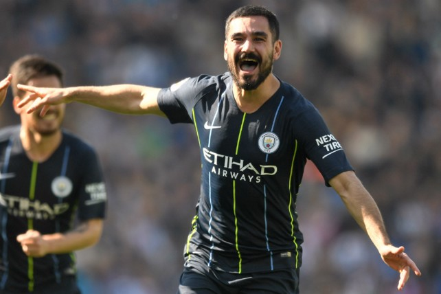 GERMAN EFFICIENCY: Ilkay Gundogan added the icing to the proverbial cake with a sensational free-kick