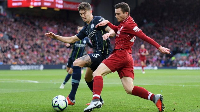 TO THE POINT: Billed as an early 'title decider', City and Liverpool played out a goalless draw at Anfield, which could have been better for the Champions if not for a missed penalty late on!