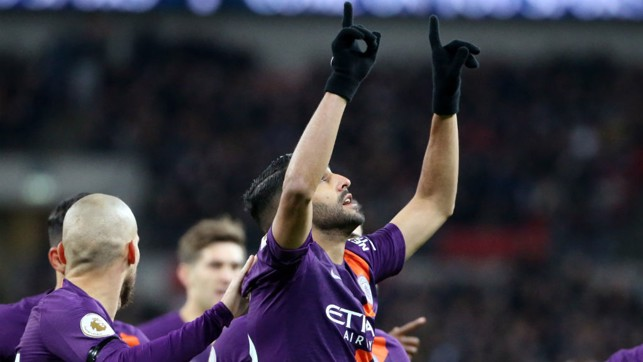 PURPLE HAZE: Riyad Mahrez bagged a crucial winner in a hard-fought triumph at Tottenham