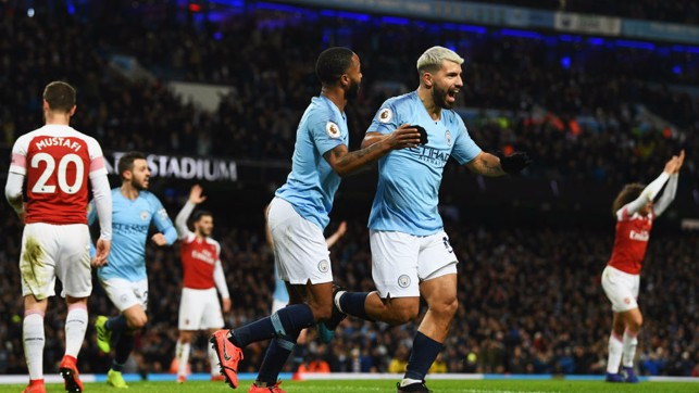 GUNNING FOR GLORY: Another hat-trick for Sergio Aguero to down Arsenal!