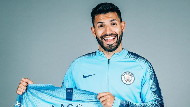 HAPPY DAYS: Sergio Aguero