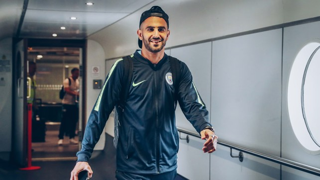 NEW BLUE: Riyad Mahrez hasn't had much time to explore his new city... it's off to another one!