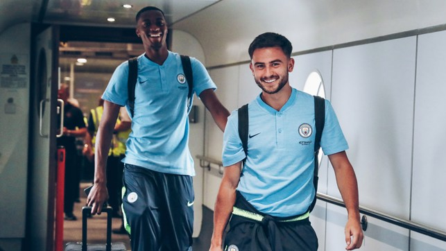 JOYOUS DUO: Tosin Adarabioyo and Patrick Roberts will hope to show what they can do