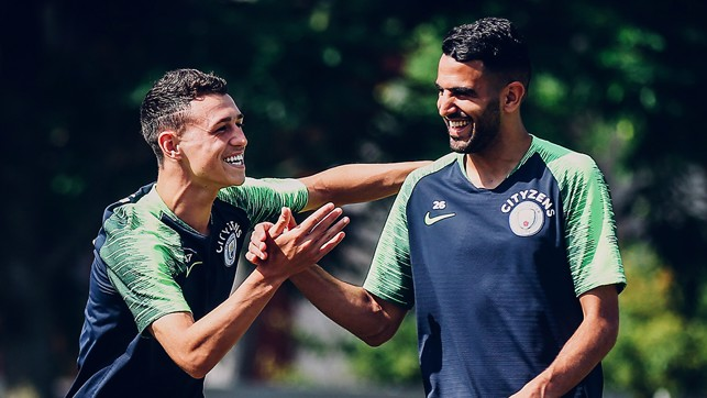 BLUES BROTHERS: Riyad Mahrez is settling in well