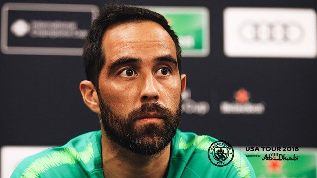PRESS CONFERENCE: Claudio Bravo talks to the media ahead of City v Bayern