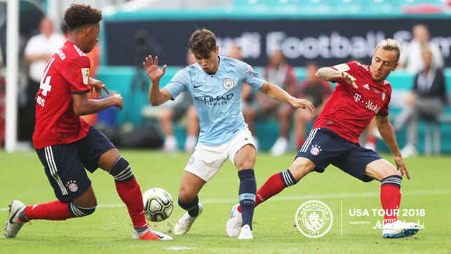 CAN'T DEFEND HIM: Brahim weaves in and out of the defence