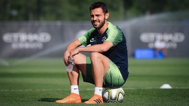 SILVA SERVICE: Bernardo Silva is glad to be back