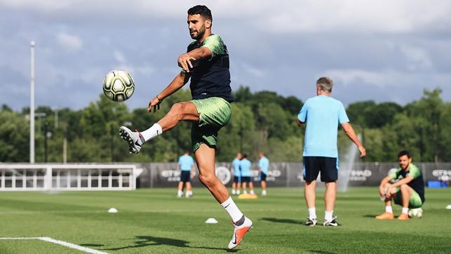CONTROL: Riyad Mahrez shows off his skills