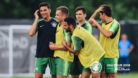 FUN AND GAMES: Riyad Mahrez is settling in well