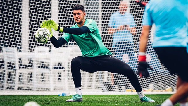 SAVE: Aro makes a great save in training