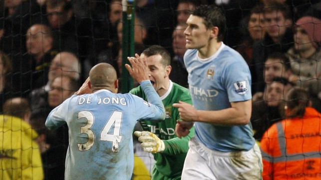 DENIED: Shay Given took the plaudits in 2009 as he saved from Frank Lampard's spot kick to ensure City took all three points in a 2-1 victory.