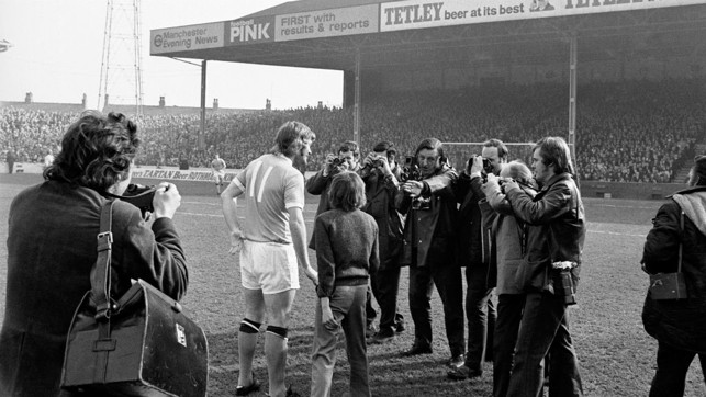 WELCOME: Rodney Marsh is introduced to the media on the day he made his City debut - the home side won 1-0 that day.