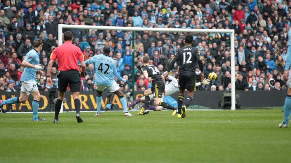 PRECISION: Yaya Toure's curling effort opened the scoring in fine fashion in 2013's 2-0 win.