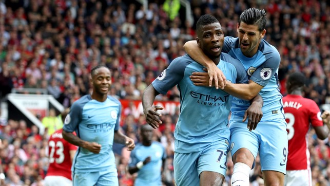 LAST TIME: Kelechi scored the decisive second goal at Old Trafford in September.