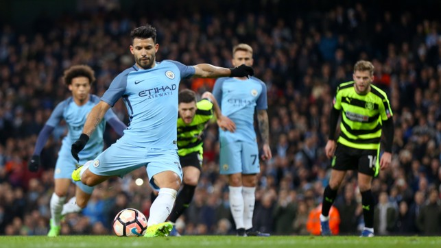 NO DOUBT: Sergio puts City ahead in the replay.