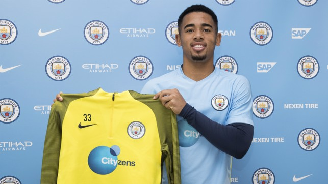 TRAINING TOP: You'll see Gabriel Jesus wearing this a lot