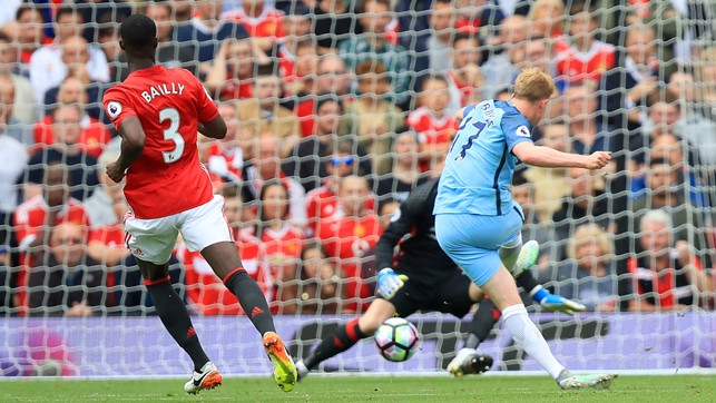 FLYING START: Cool as you like from Kevin De Bruyne.