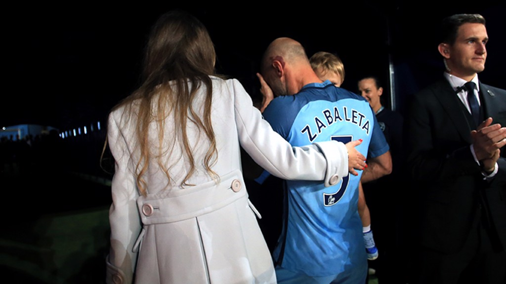 Image result for pablo zabaleta farewell etihad stadium