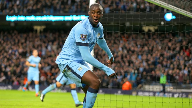 YAYA TOURE: 2013/14 - 20 Goals
