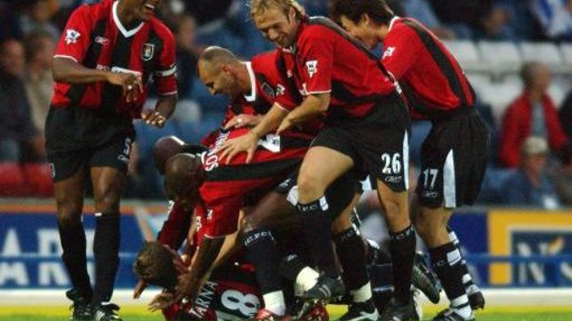 INTENSE: A classic against Blackburn in 2003 as City beat 3-2
