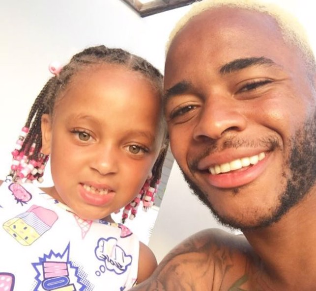 BLOND: Sterling shows off his new blond hair with his duaghter