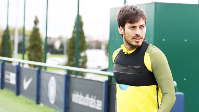 SERIOUS SILVA: The Spanish wizard is focused as he prepares for training.