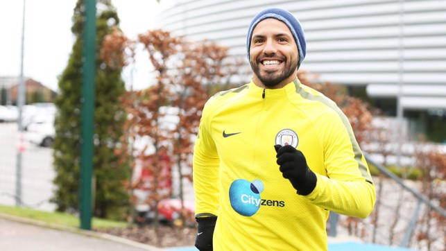 SUPER SERGIO: Our number 10 makes his way out for the session.