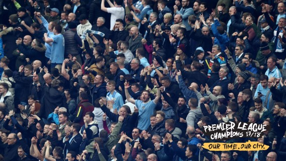 CHAMPIONS: Manchester City have won the 2017/18 Premier League title